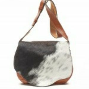 Patricia Nash leather and cow hair bag